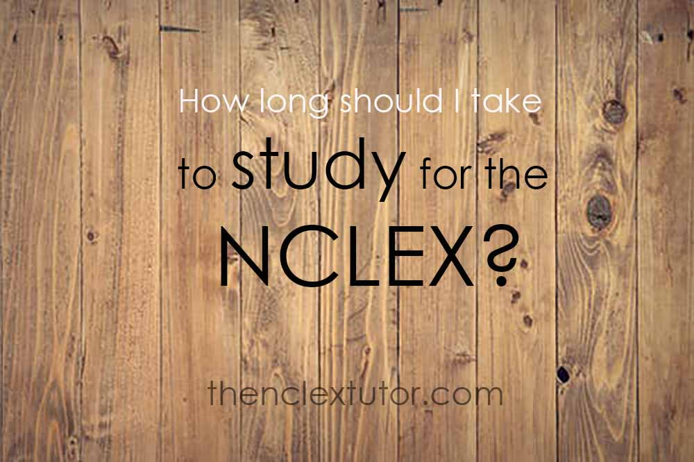 how long to study for nclex